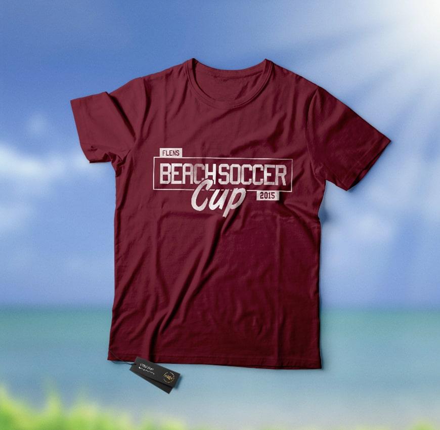 Grafik Design Balltick BeachSoccer T-Shirt 2015