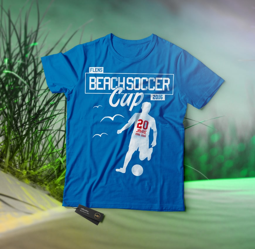 Grafik Design Balltick BeachSoccer T-Shirt 2016