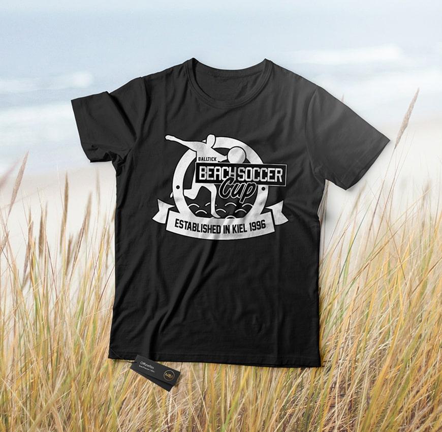 Grafik Design Balltick BeachSoccer T-Shirt 2018
