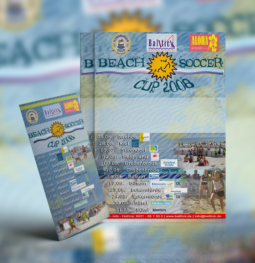 Grafik Design Balltick BeachSoccer Flyer 2008
