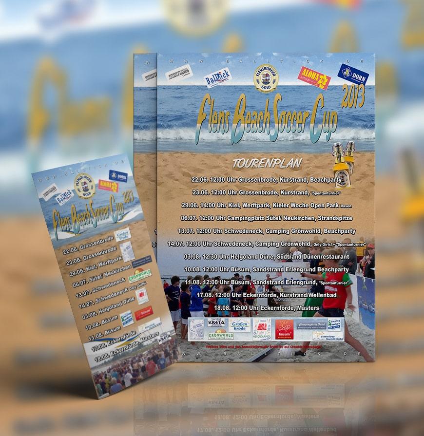 Grafik Design Flens BeachSoccer Flyer 2013