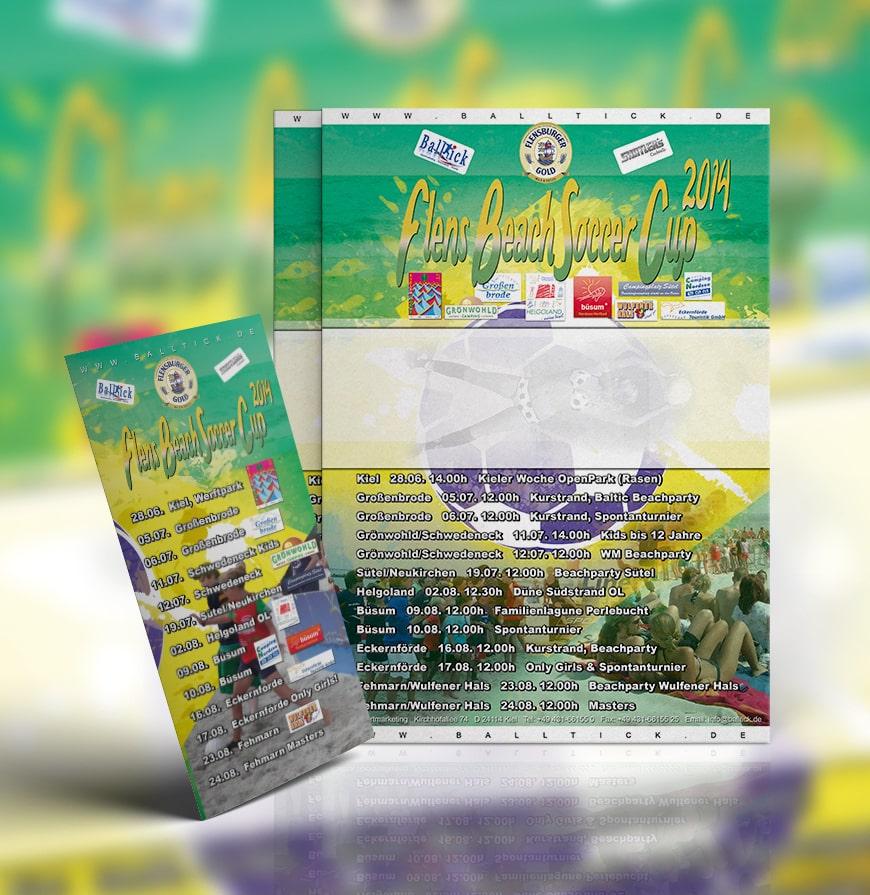Grafik Design Flens BeachSoccer Flyer 2014