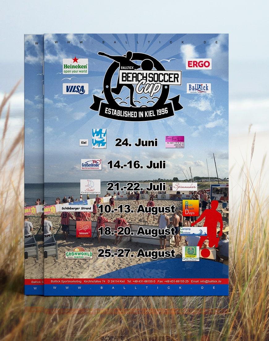 Grafik Design Balltick BeachSoccer Flyer 2017