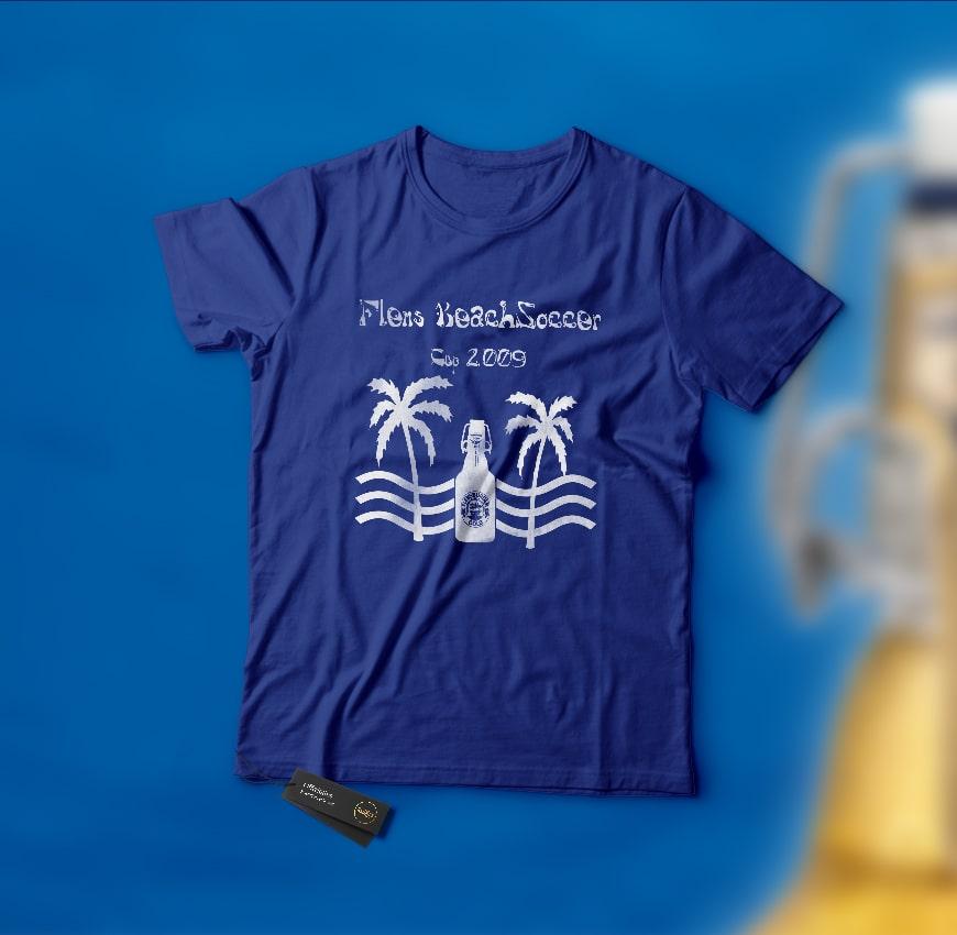 Grafik Design Flens BeachSoccer T-Shirt 2009