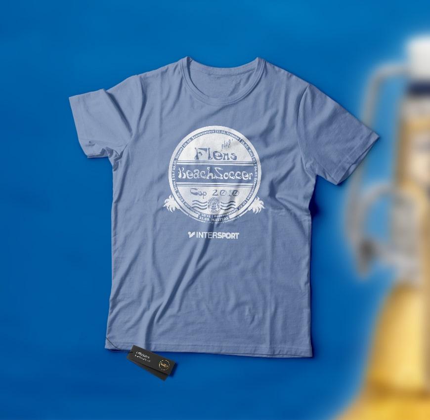 Grafik Design Flens BeachSoccer T-Shirt 2010