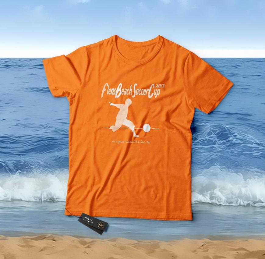 Grafik Design Flens BeachSoccer T-Shirt 2015