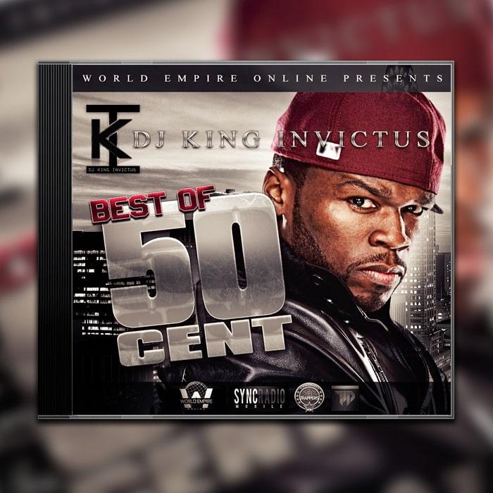 DJ Grafik Design Album Cover King Invictus - Best of 50 Cent