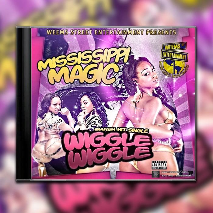 Grafik Design Album Cover Mississippi Magic – Wiggle Wiggle