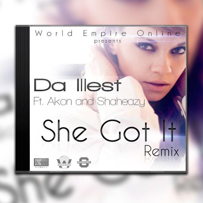 Grafik Design Album Cover Da Illest – She got it Remix