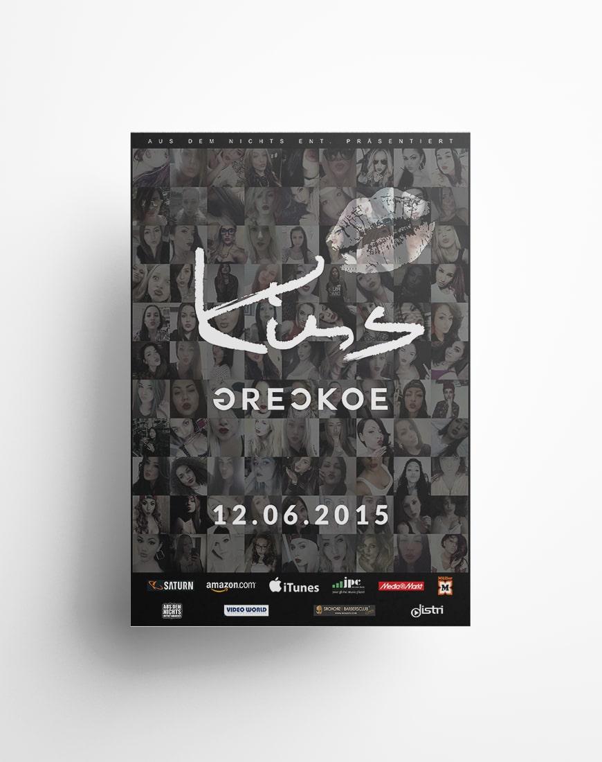 Grafik Design Plakat Poster Greckoe - Kiss