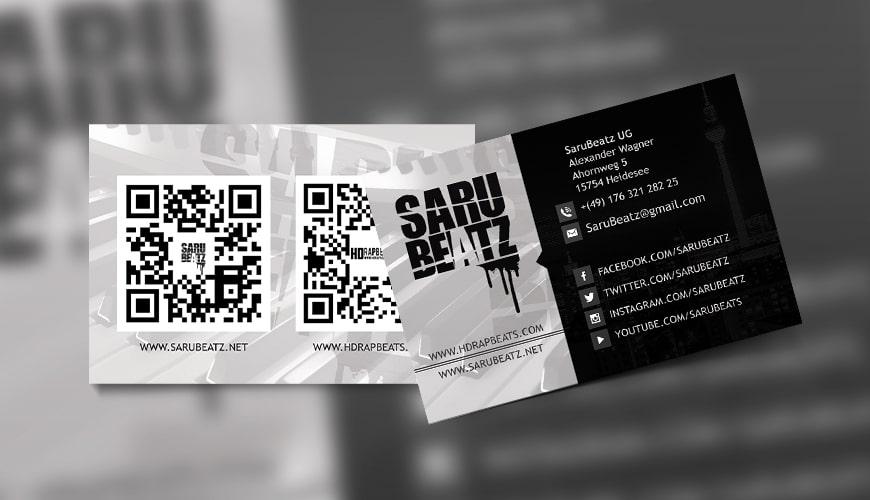 Grafik Design Visitenkarte SarzBeatz