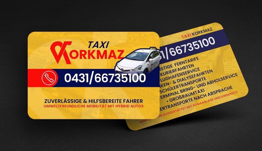 Grafik Design Visitenkarte Taxi Korkmaz Kiel