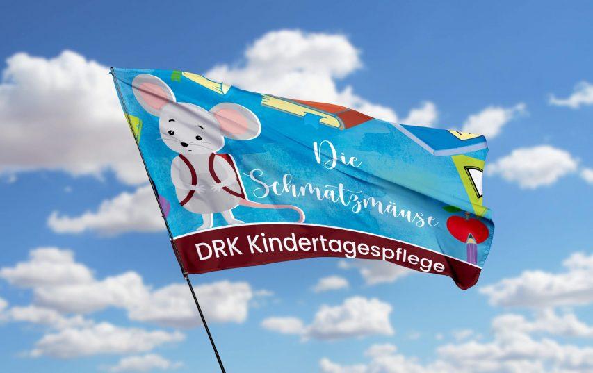 Grafik Design Flagge Die Schmatzmäuse DRK Kindertagespflege