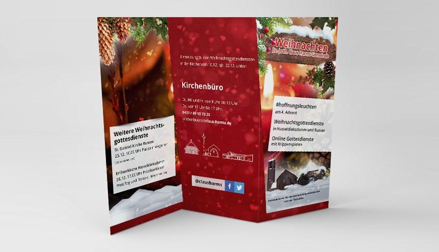 Flyer Weihnachten Claus Harms Kirchengemeinde