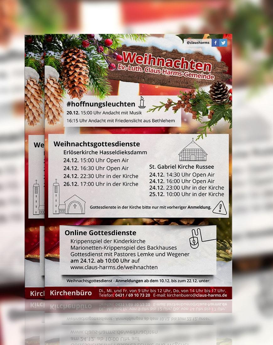 Plakat Weihnachten Claus Harms Kirchengemeinde