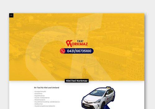 Grafik Design Wordpress One-Page Webseite Taxi Korkmaz Kiel