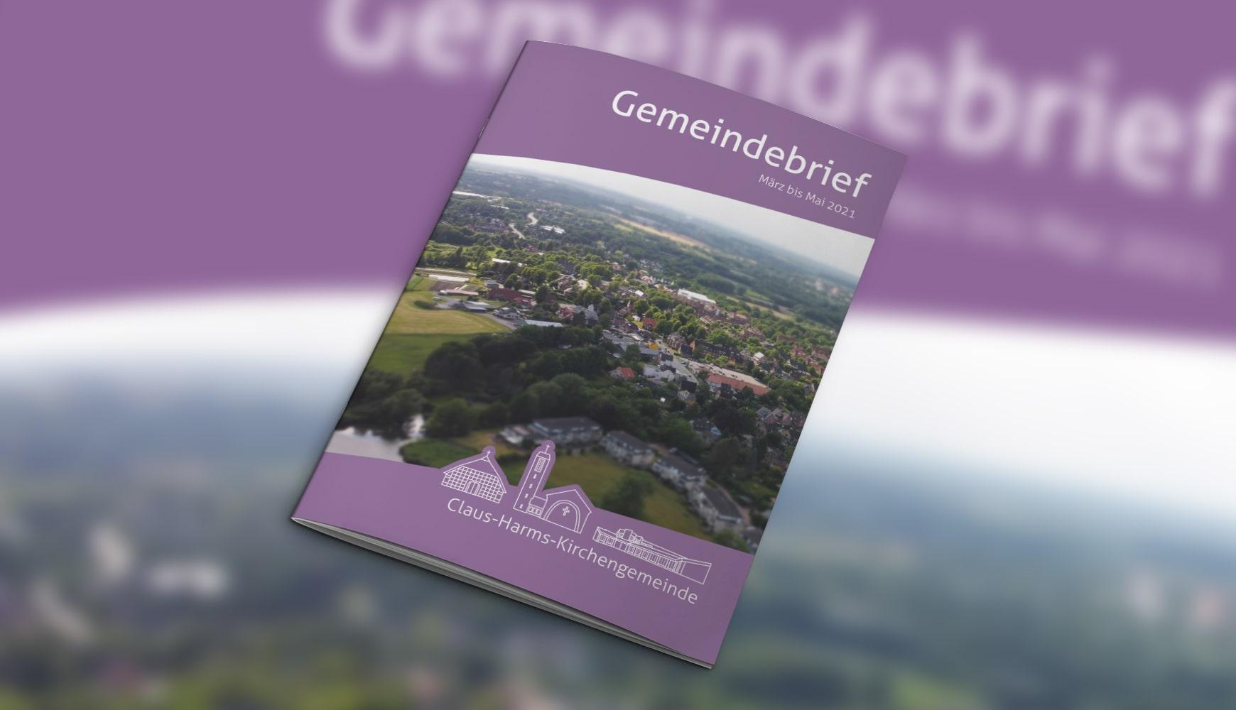 Grafic Design Zeitschrift Heft Design Gemeindebrief Claus-Harms März 2021