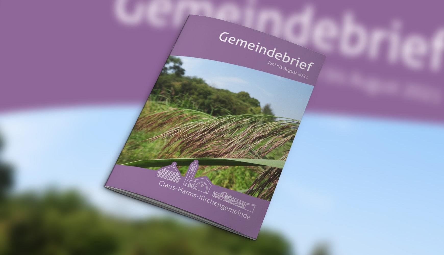 Grafik Design Zeitschrift Heft Design Gemeindebrief Claus-Harms Juni 2021