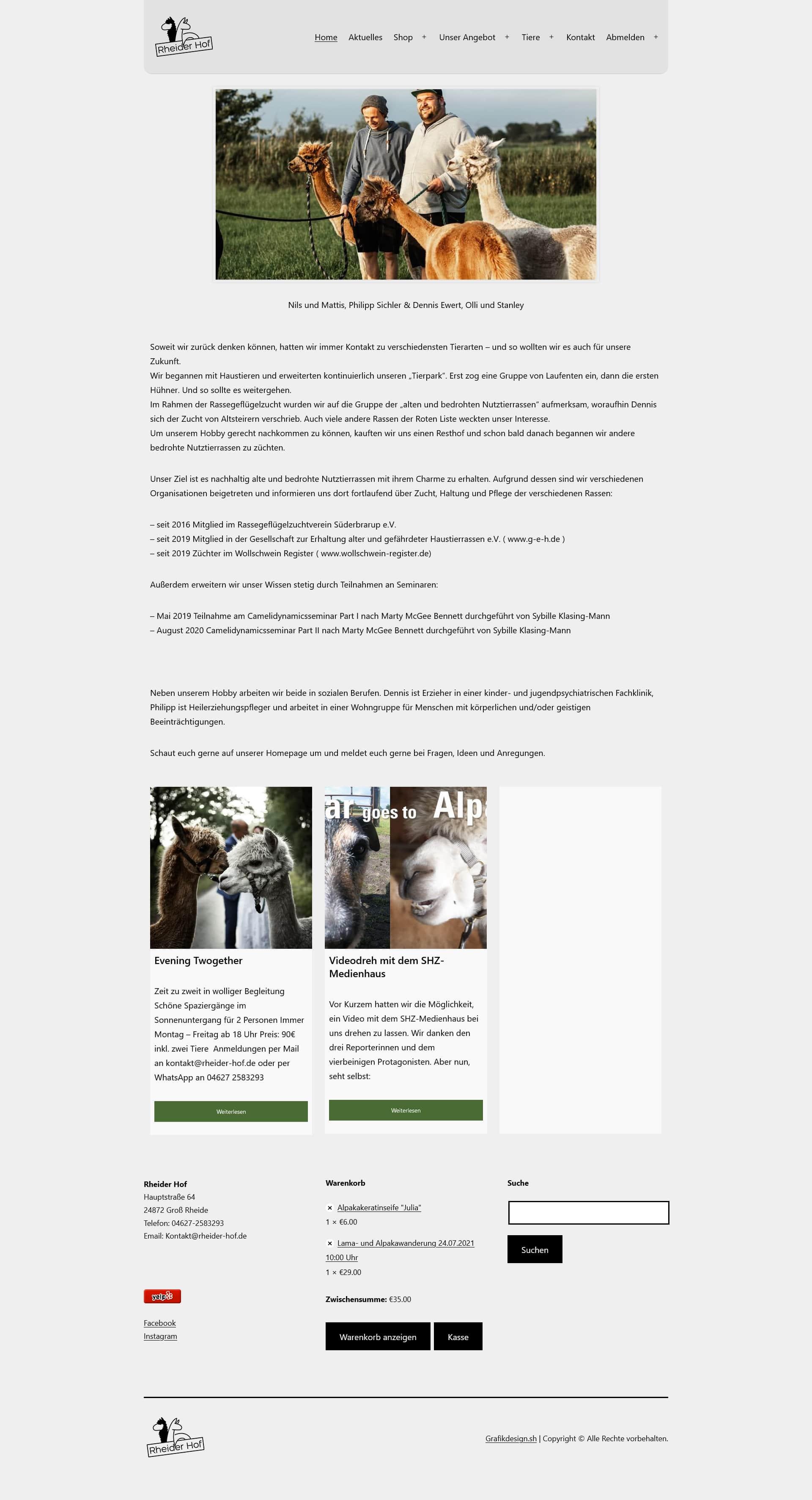 Grafik Design WordPress Webseite Rheider Hof Fullsize Preview