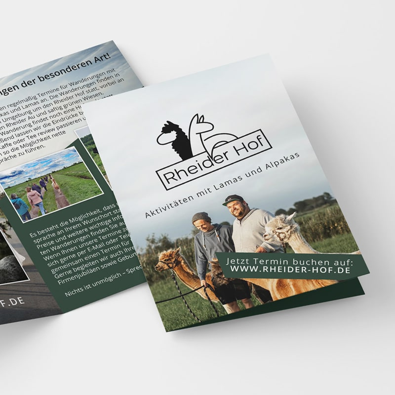 Grafikdesign Portfolio Dina5 Flyer Design Rheider Hof
